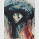 Arnulf Rainer, Van Gogh im Winterpelz, 1977, Öl und Tusche auf Fotografie, Sammlung Garnatz