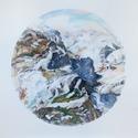 Bergrund 1, 2016, Farbstift und Pastellkreide auf Papier, 150 x 153 cm