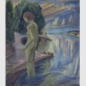 Erich Heckel: Badende II, 1919, Tempera auf Leinwand, 96,5 x 83 cm, Kunstsammlungen Chemnitz. Foto: Kunstsammlungen Chemnitz/May Voigt © 2016 Nachlass Erich Heckel, Hemmenhofen