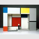 Piet Mondrian, Bühnenmodell für Michel Seuphors »L'Éphémère est éternel« (1926), Rekonstruktion 1964. Collection Van Abbemuseum, Eindhoven, Foto: Peter Cox