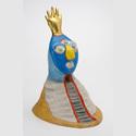 "Niki de Saint Phalle: Magicien - House of Meditation, Modell für ""Jardin des tarots"" 1978, Polyester, bemalt, 68 x 44 x 50 cm. Sprengel Museum Hannover, Schenkung Niki de Saint Phalle. Foto: Sprengel Museum Hannover. Fotograf: Herling/Gwose/Werner, Sprengel Museum Hannover. © N.C.A.F. – Donation Niki de SAINT PHALLE – Sprengel. Museum Hannover. © VG Bild-Kunst, Bonn 2016"