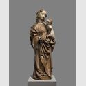 Madonna aus Kaaden, 1493, Holzskulptur, H 58 cm. Leihgabe aus dem Oblastni muzeum Chomutov/ Regionalmuseum Komotau. Foto: David Stecker. © 2016 Oblastní muzeum Chomutov