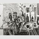 Das Atelier in Ascona, 2001, Öl auf Leinwand, 81 x 100 cm