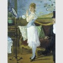 Nana, 1877 . Édouard Manet. Öl auf Leinwand, 154 x 115 cm. Hamburger Kunsthalle © bpk/Hamburger Kunsthalle. Foto: Elke Walford