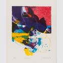 Gerhart Bergmann: Chelsea, 1967. Farblithographie, Blattformat: 64,2 × 52 cm, Darstellung: 50,5 × 40 cm. © Gerhart Bergmann