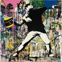 Mr. Brainwash Banksy Thrower Unikat | FRANK FLUEGEL GALERIE