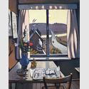 Wolfgang Mattheuer (1927-2004). Fenster II, 1966, Öl auf Hartfaserplatte; 118 x 96 cm, Foto: MJK, Bernd Kuhnert, Berlin. © MJK, Künstler