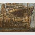 Jochen Hein: American Star II, 2011. Acryl und Eisenoxid auf Leinwand, 250 x 300 cm